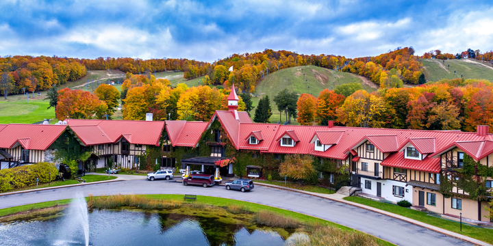 Main Lodge Main entrance high view