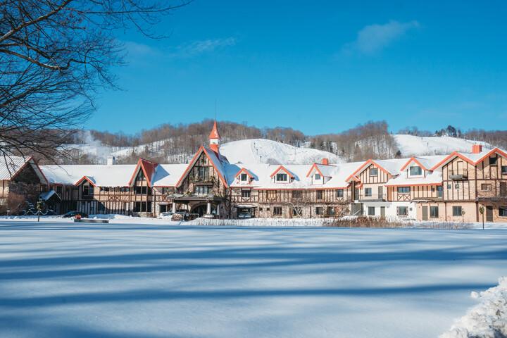 Main lodge front winter